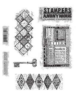 TIM HOLTZ Large Cling Rubber Stamp Set- CLASSICS #3