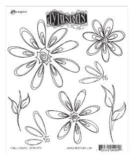 RANGER DYLUSIONS FANCY FLORALS RUBBER STAMP