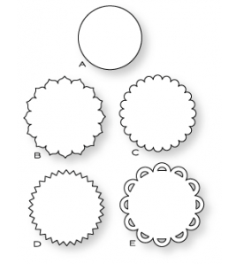 """PAPERTREY DIES LIMITLESS LAYERS 1 3/4"""" CIRCLE DIE COLLECTION (SET OF 5)"""