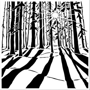 CRAFTER'S WORKSHOP 6 X 6 STENCIL MINI SUNLIT FOREST