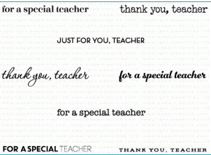 PAPERTREY MINI STAMP KEEP IT SIMPLE: TEACHER