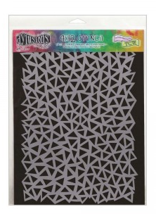 DYLUSIONS 9X12 STENCIL TRIANGLES LARGE