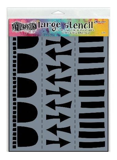DYAN REAVELEY STENCIL- ARROW LARGE 9 X 12