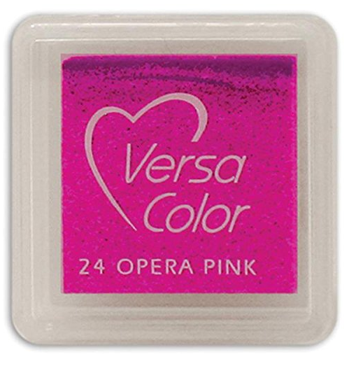 "VERSA COLOR OPERA PINK INK PAD  1""X1"""