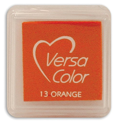 "VERSA COLOR ORANGE INK PAD  1""X1"""