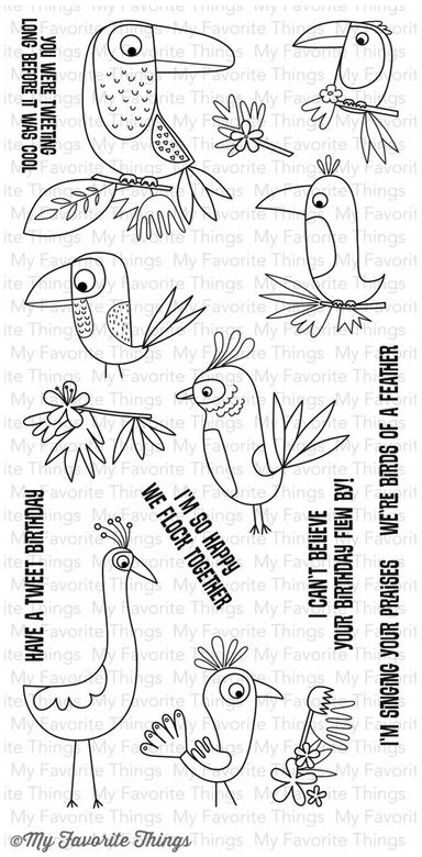 MFT BIRDS OF PARADISE  STAMP SET