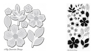 MFT FLASHY FLORALS STAMP AND DIE SETS