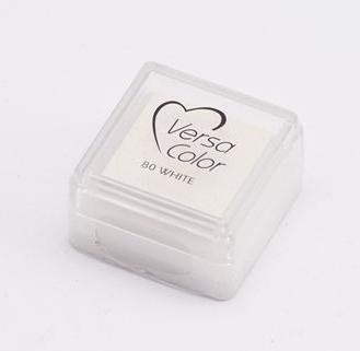 "VERSA COLOR WHITE  INK PAD  1""X1"""