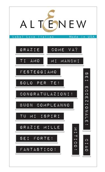 ALTENEW LABEL ITALIAN LOVE STAMP SET