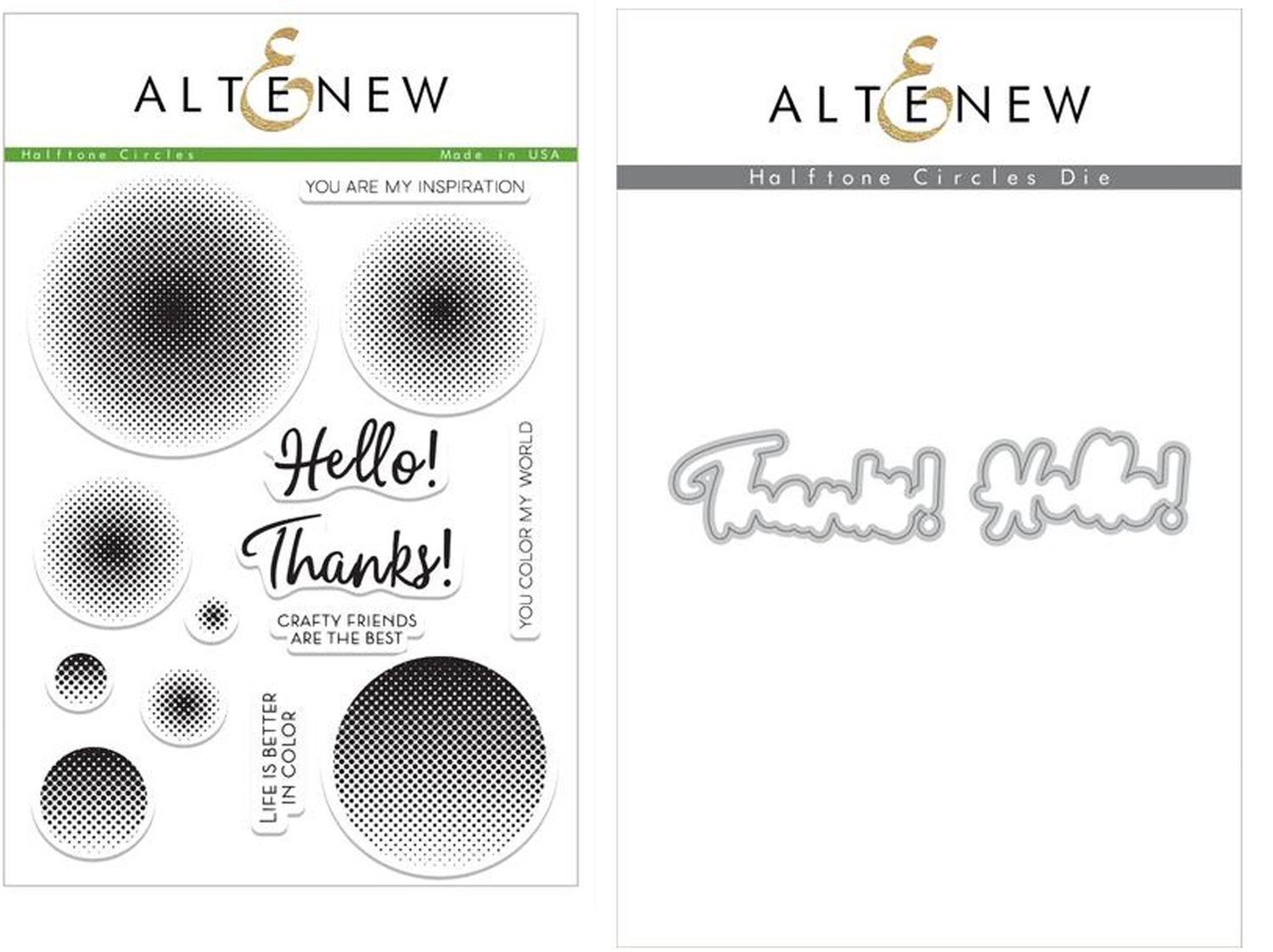 ALTENEW HALFTONE CIRCLE STAMP AND DIE SETS