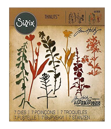SIZZIX THINLITS DIES WILDFLOWERS #2