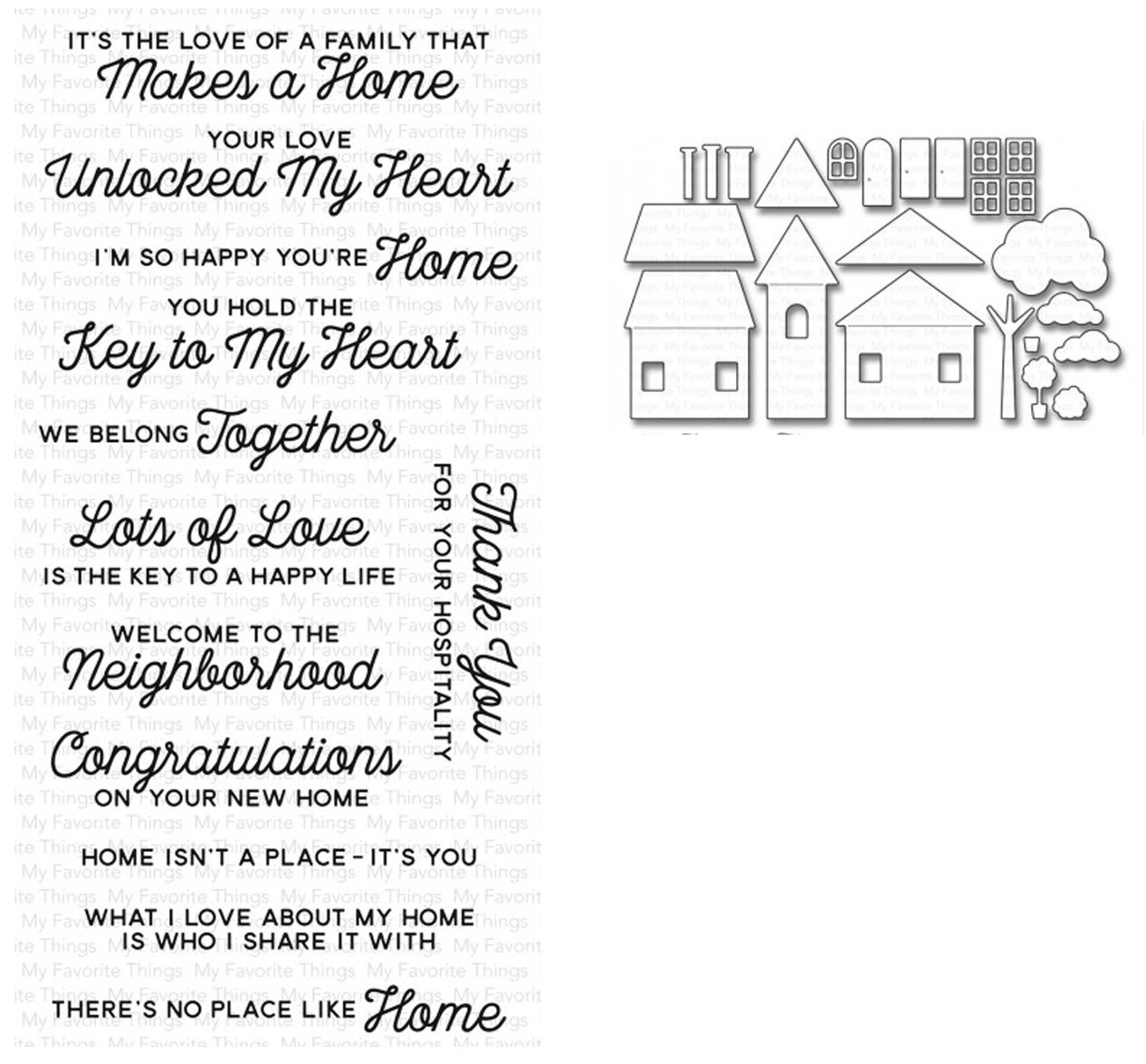 MFT NO PLACE LIKE HOME STAMP AND DIE SETS