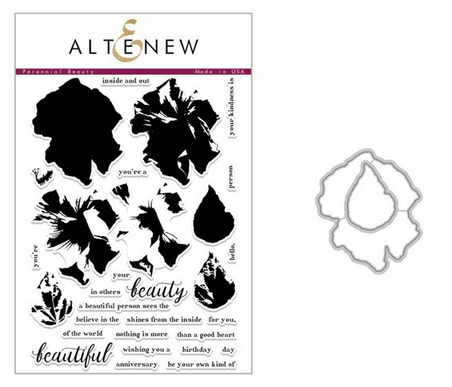 ALTENEW PERENNIAL BEAUTY  STAMP AND DIE SET