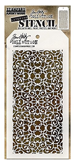 TIM HOLTZ STENCIL ORNATE