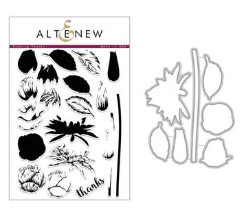 ALTENEW BUDDING THANKS STAMP AND DIE SET