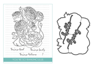 STUDIO KATIA YOU'RE SO RANUNCULUS STAMP AND DIE SET