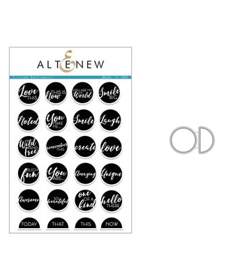 ALTENEW CIRCLED SENTIMENTS STAMP AND DIE SET