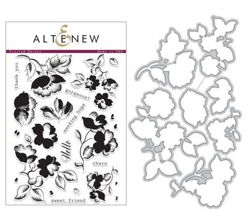 ALTENEW FROSTED GARDEN STAMP AND DIE SET