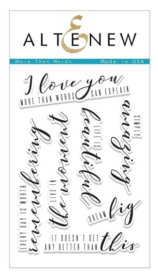 ALTENEW MORE THAN WORDS STAMP SET