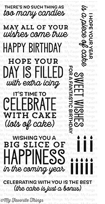 MFT BIG BIRTHDAY SENTIMENTS STAMP