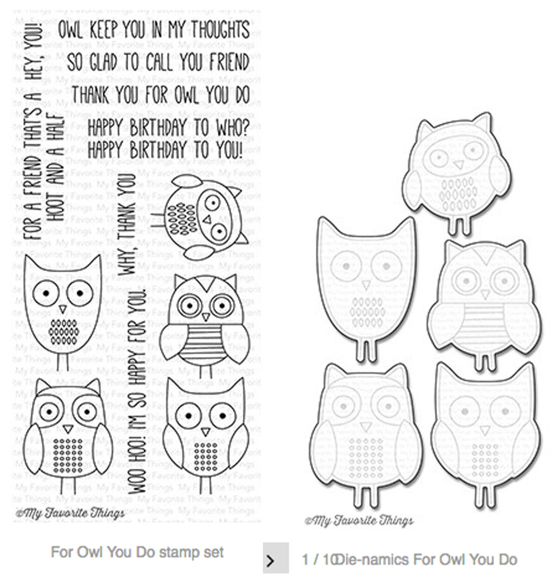 MFT FOR OWL YOU DO  STAMP AND DIE SET