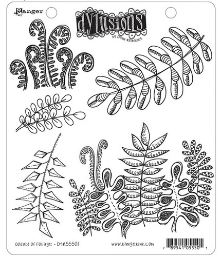 RANGER INK DYLUSIONS  OODLES OF FOLIAGE RUBBER STAMP