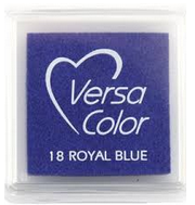 "VERSA COLOR ROYAL BLUE INK PAD  1""X1"""