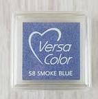 "VERSA COLOR  SMOKE BLUE INK PAD  1""X1"""