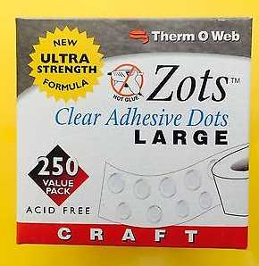 """THERM O WEB ZOTS CLEAR ADHESIVE DOTS ULTRA STRENGTH 3/16"""""""