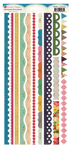 CRATE PAPER BORDER STICKERS RANDOM COLLECTION