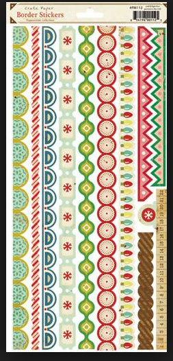 CRATE PAPER BORDER STICKERS PEPPERMINT COLLECTION