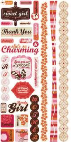 CRATE PAPER TITLE STICKERS PINK PLUM COLLECTION