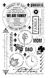 BASIC GREY RUB ONS FAMILY WHITE