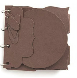 BASIC GREY ECLECTIC CHIPBOARD ALBUM MILK CHOCOLATE