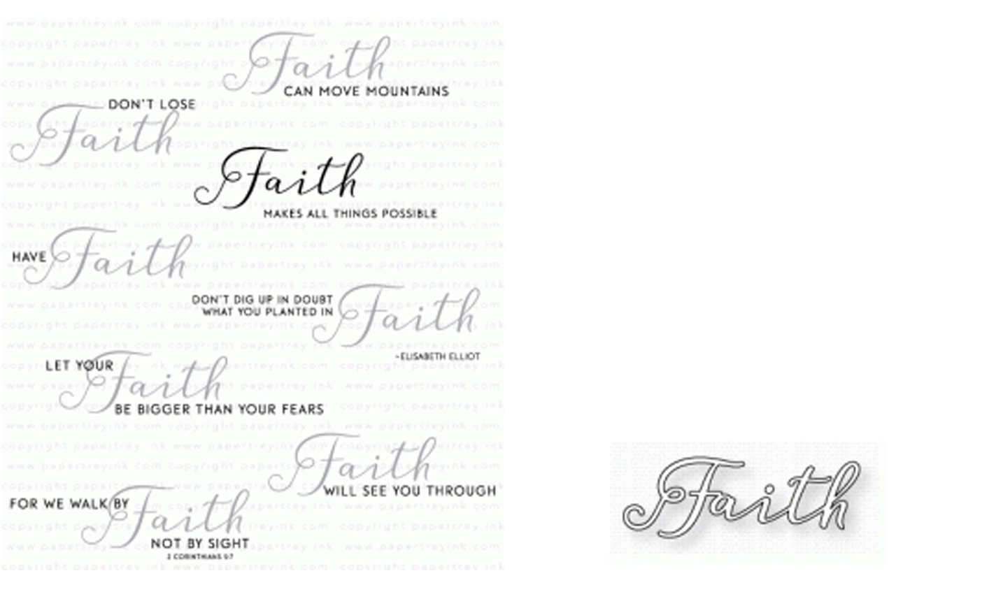 PAPERTREY INK  INSPIRED FAITH  STAMP AND DIE
