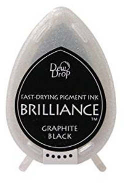 TSUKINEKO BRILLIANCE DEW DROP GRAPHITE BLACK INK PAD