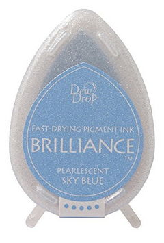 TSUKINEKO BRILLIANCE DEW DROP SKY BLUE INK PAD