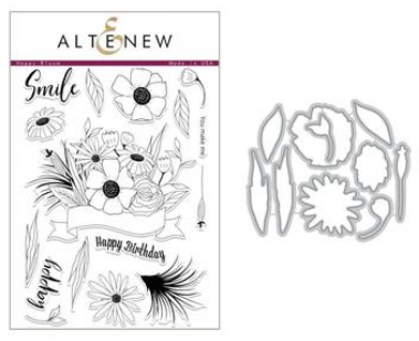 ALTENEW HAPPY BLOOM STAMP AND DIE SET
