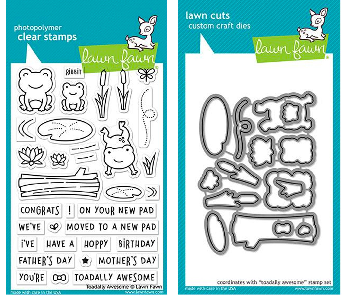 LAWN FAWN TOADALLY AWESOME STAMP AND DIE SET