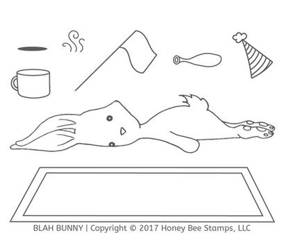 HONEY BEE BLAH BUNNY STAMP SET