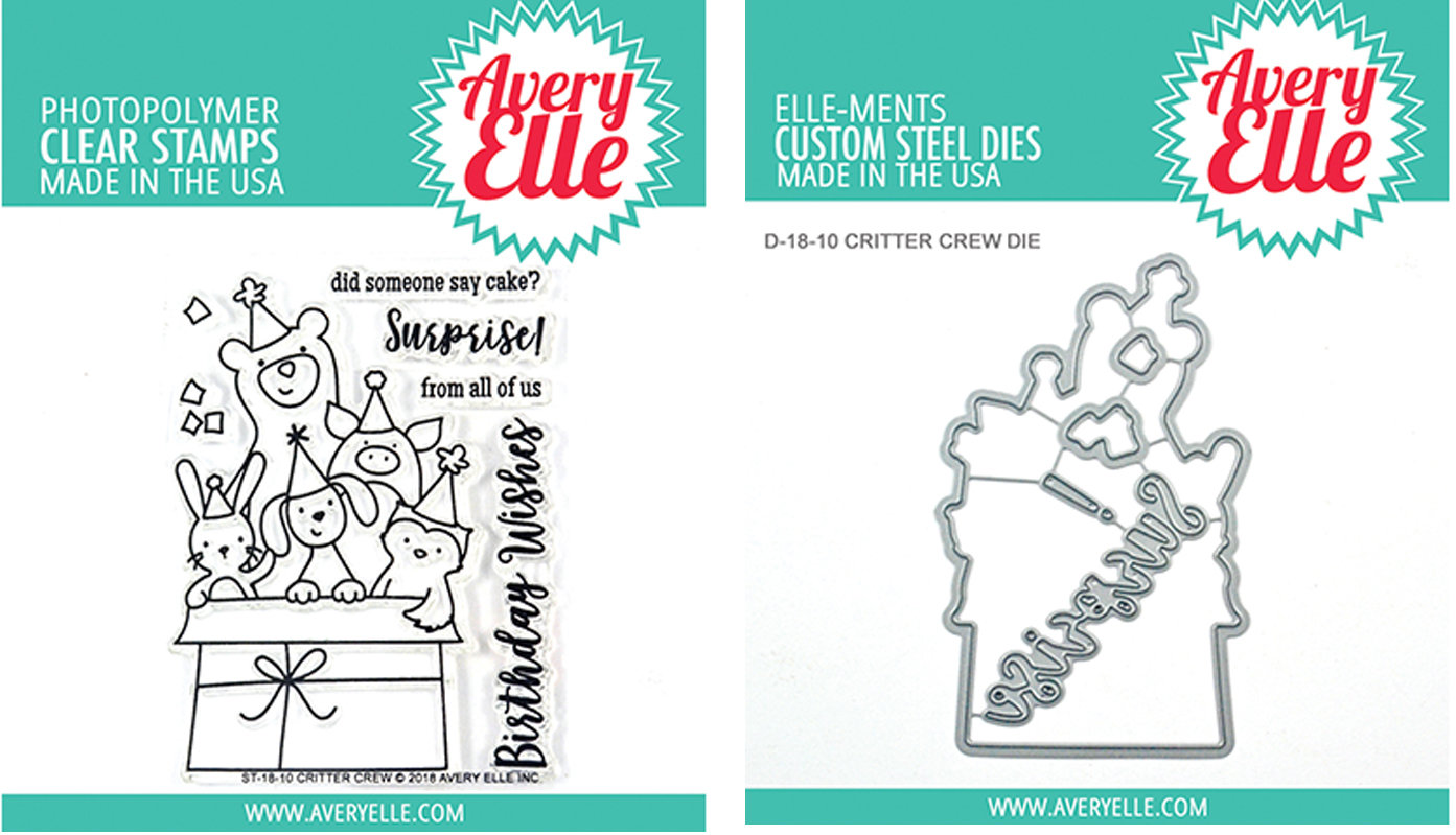 AVERY ELLE CRITTER CREW STAMP AND DIE SET