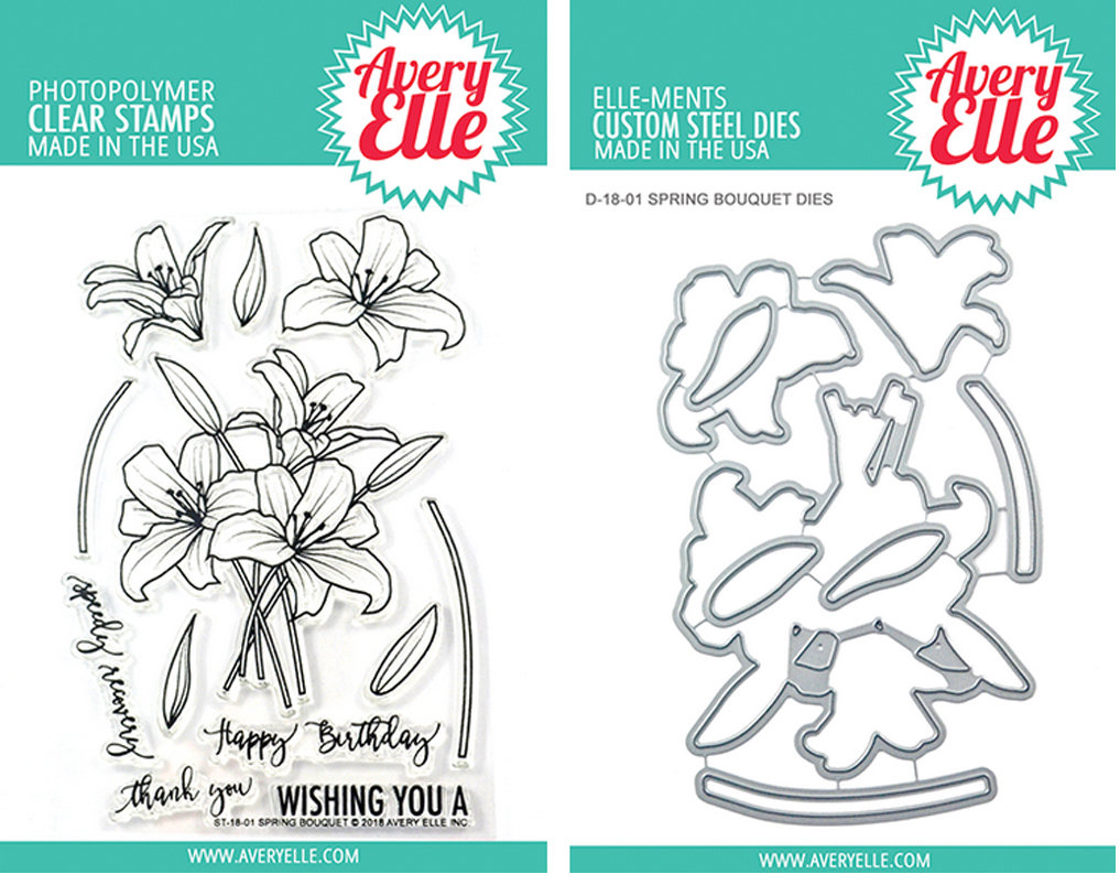AVERY ELLE SPRNG BOUQUET STAMP AND DIE SET