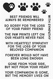 MFT  CRITTER CONDOLENCES  STAMP ONLY