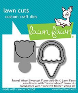 LAWN FAWN  REVEAL WHEEL SWEETEST FLAVOR ADD ON DIE