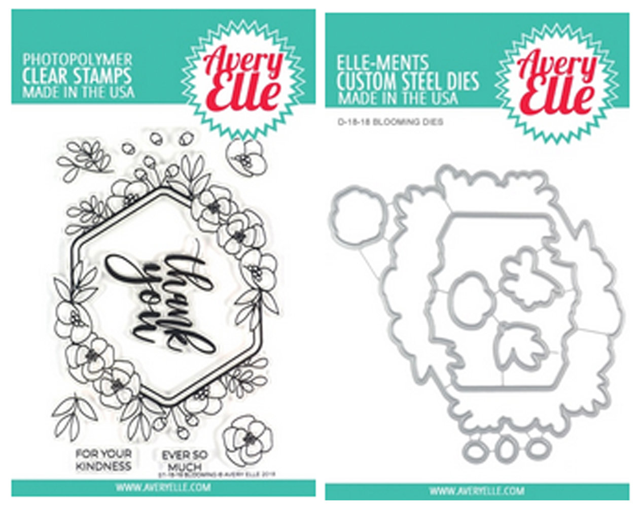 AVERY BLOOMING STAMP AND DIE SET