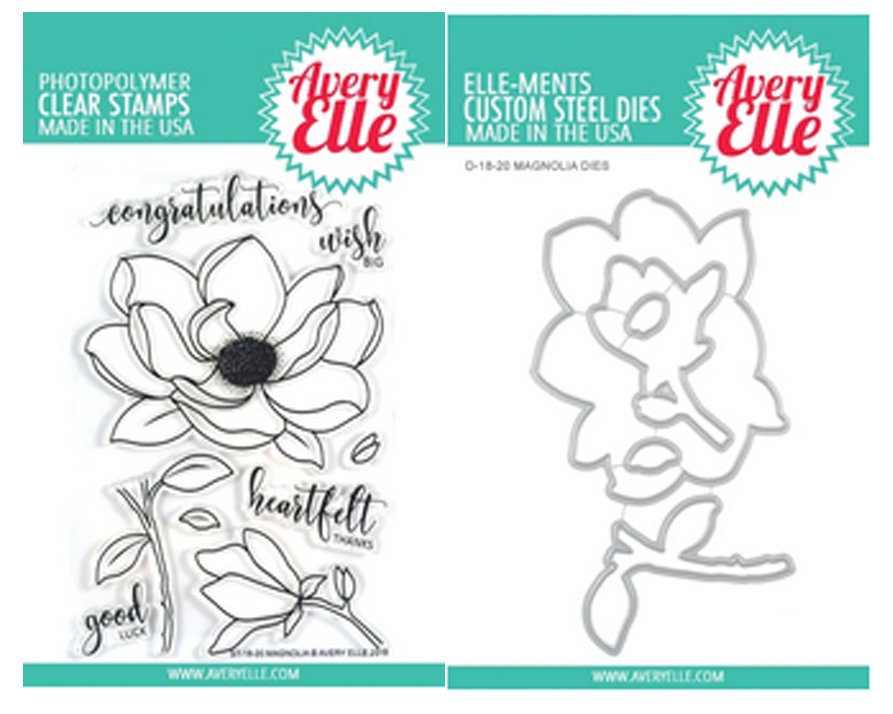 AVERY ELLE MAGNOLIA STAMP  AND DIE SET