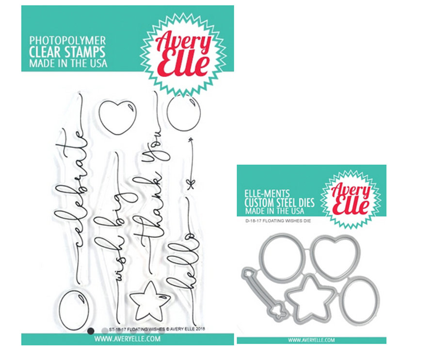 AVERY ELLE FLOATING WISHES STAMP AND DIE SET