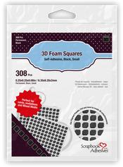 SCRAPBOOK ADHESIVES 3D FOAM SQUARES BLACK SMALL