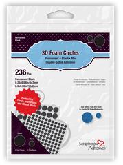 SCRAPBOOK ADHESIVES 3D FOAM CIRCLES BLACK MIX