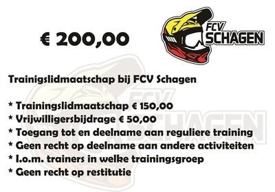 Trainingslidmaatschap FCV Schagen e.o.
